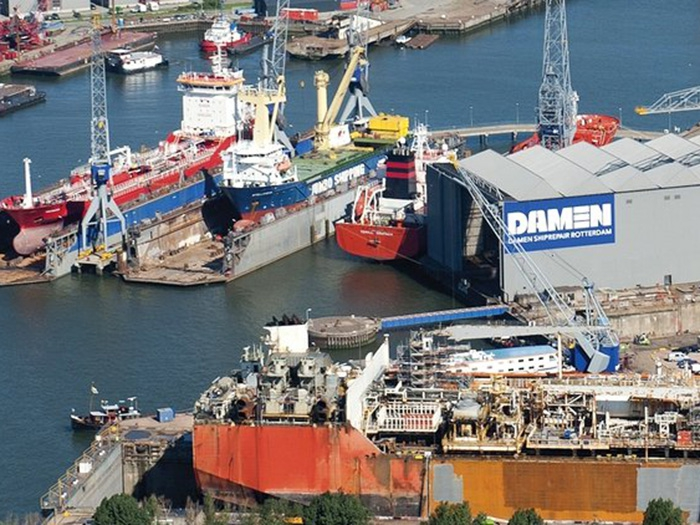 Damen Ship Repair to trim jobs at three Dutch shipyards