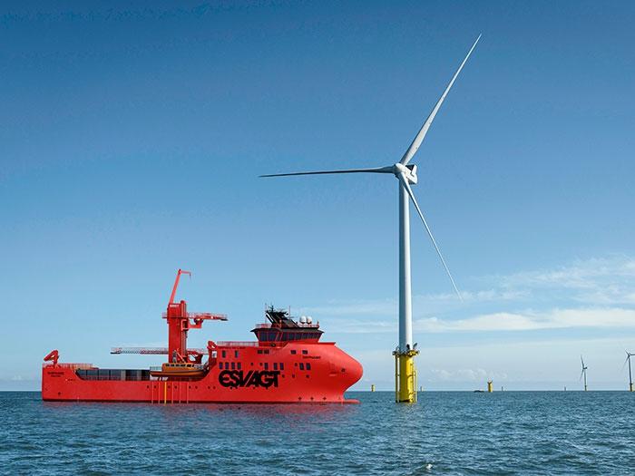Vestdavit to supply davits for latest Esvagt windfarm SOV newbuilds