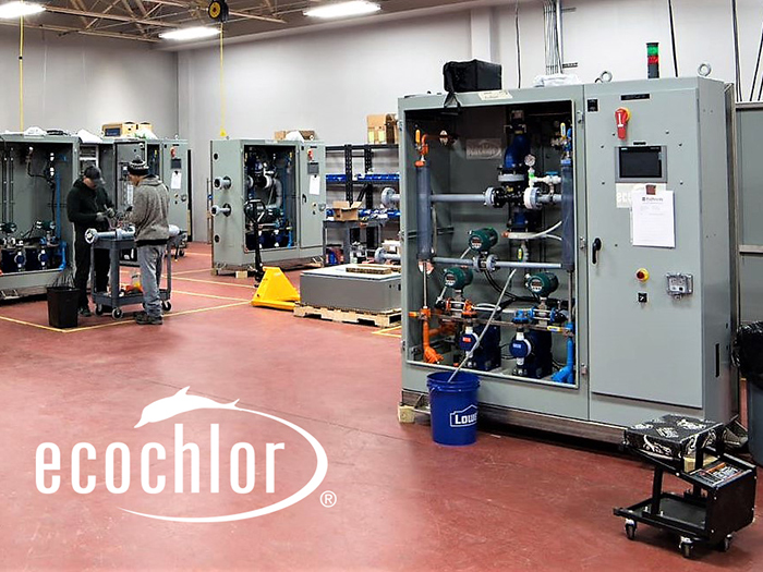 Ecochlor BWMS in factory production cell
