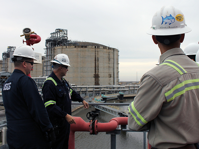 USCG inspects Cameron LNG facility