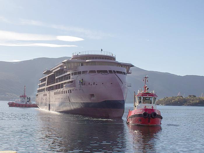 Hull of Lindblad polar ship arrives at Ulstein - Marine Log