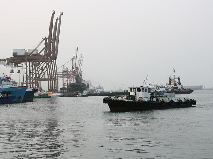 scene at Port of Fujairah
