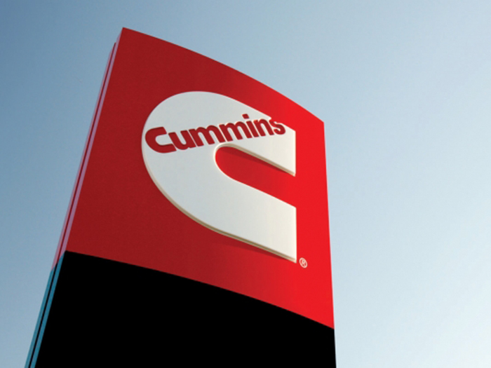Cummins logo on outdoor sign