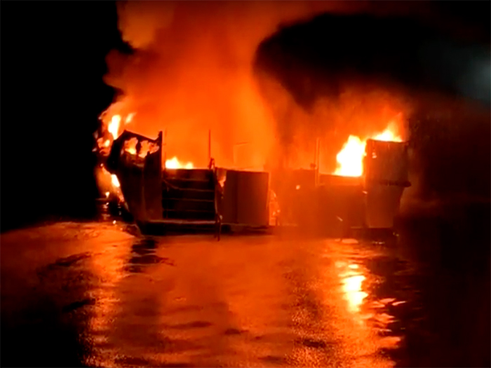 Image result for image of dive boat fire
