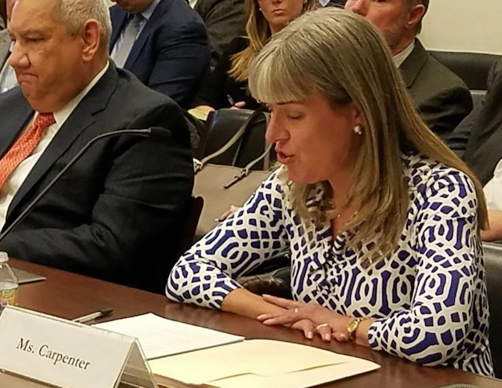 Jennifer Carpenter, new AWO CEO, testifies on behalf of the nation's waterways