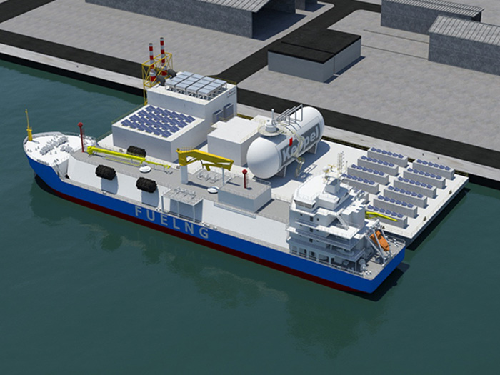 Floating living lab will be part hydrogen blend fueled