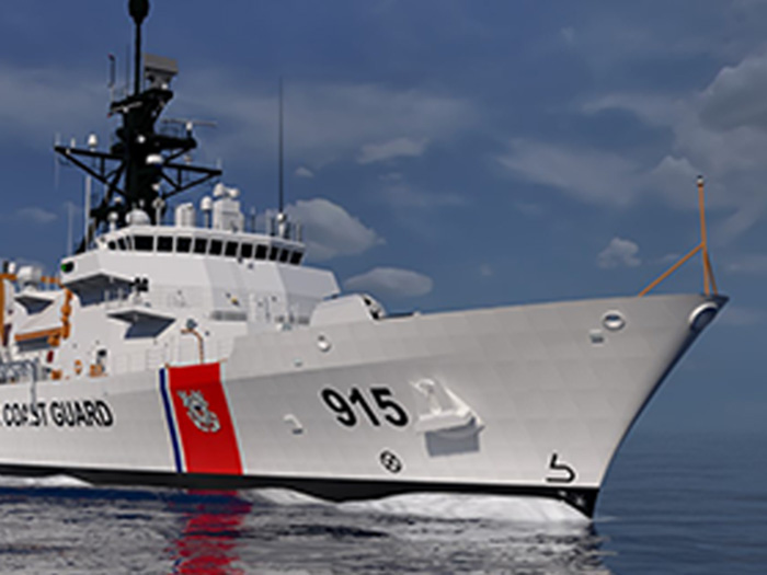 Forward end of Offshore patrol cutter