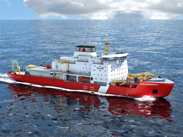 Concept drawing of polar icebreaker