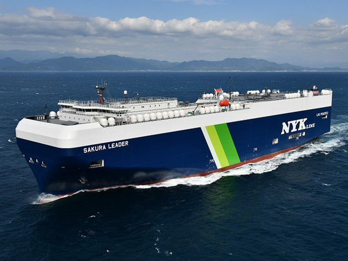 LNG fueled car carrier