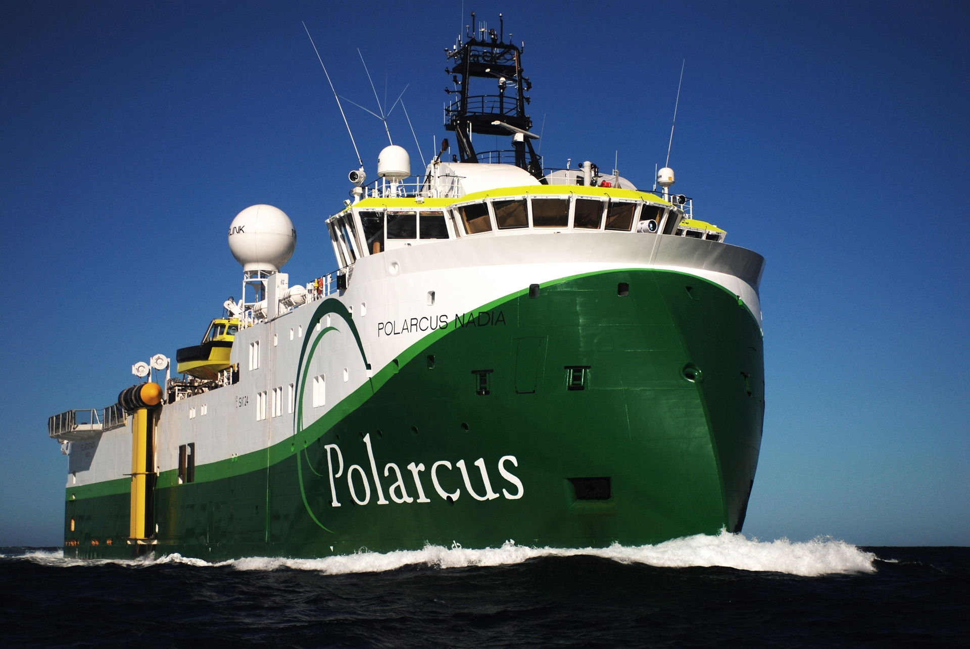 Green seismic ship Polarcus