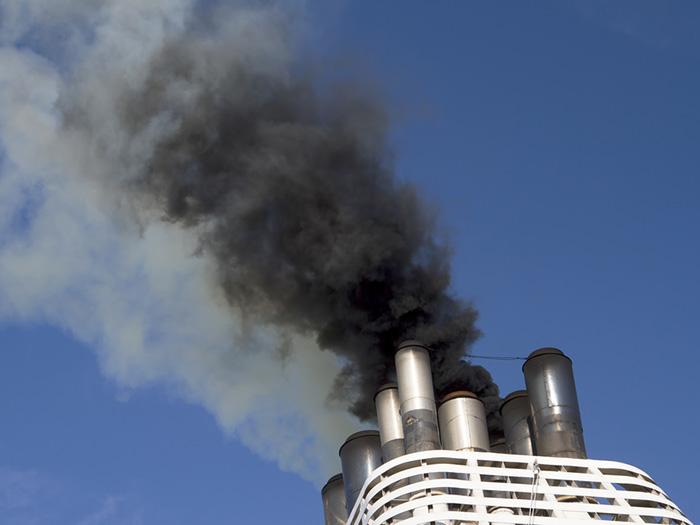 Carbon emitting smoke stack