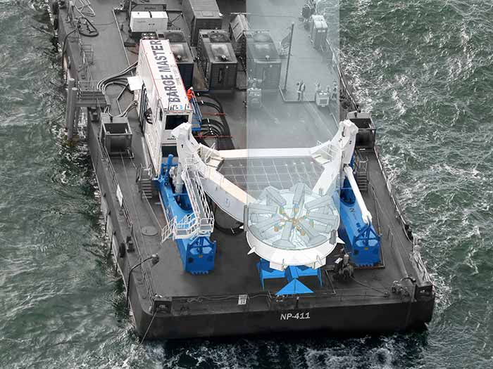 BM Feeder on barge