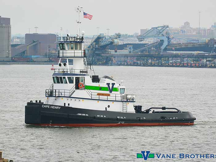 Side view of tug