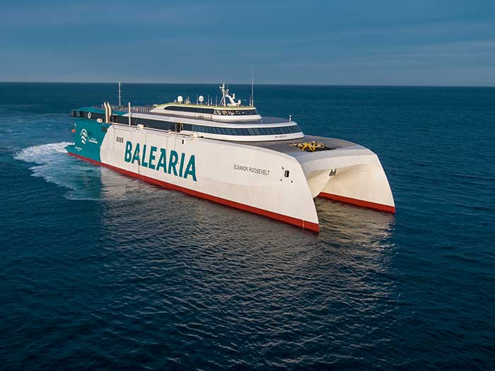 Large catamaran car/passenger ferry