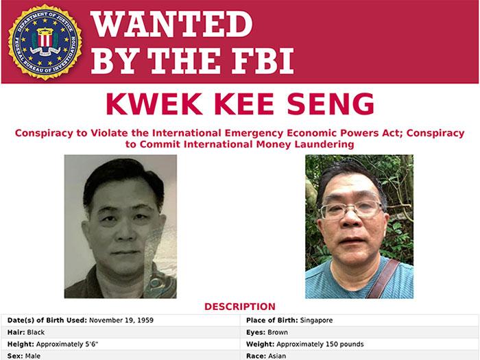 FBI wanted notice for Kwek