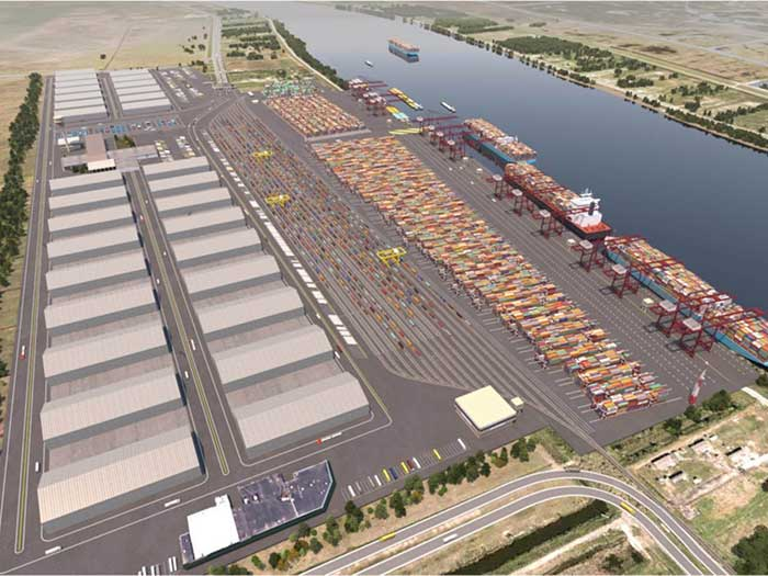 Rendering of proposed Plaquemines port