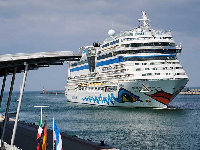 White AIDA Cruises ship