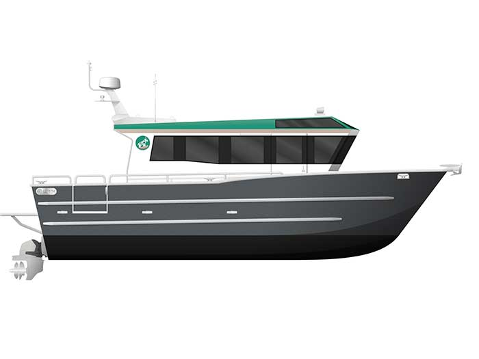 Profile view of Brix Marine water taxi