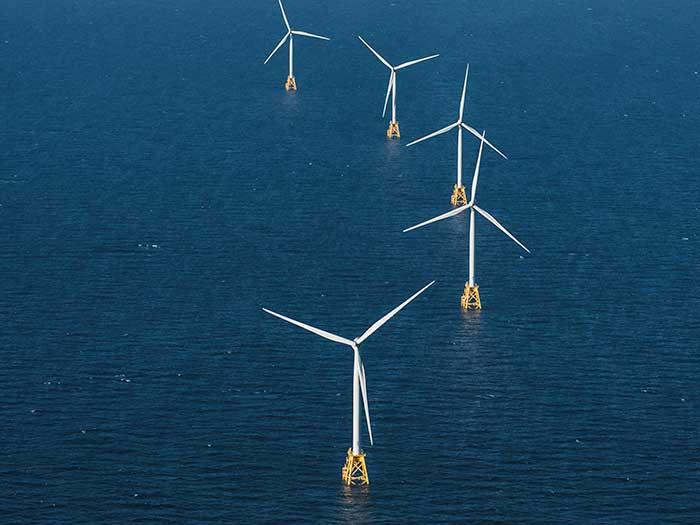 Five wind torbines