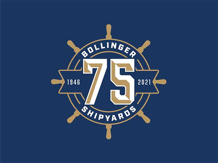 Bollinger unveiled special logo to celebrate its 75th anniversary