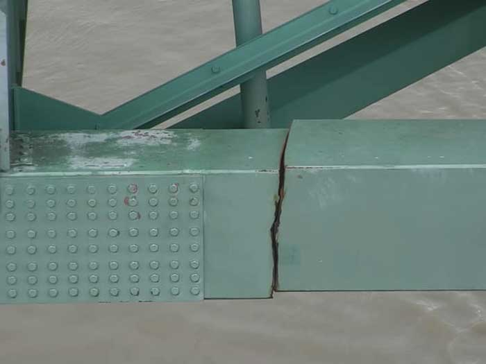 Crack in bridge