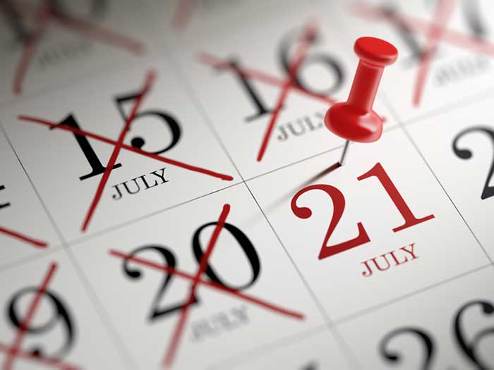 Pin marks Subchapter M deadline date on calendar