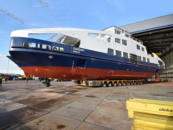 Ferry at shipyard