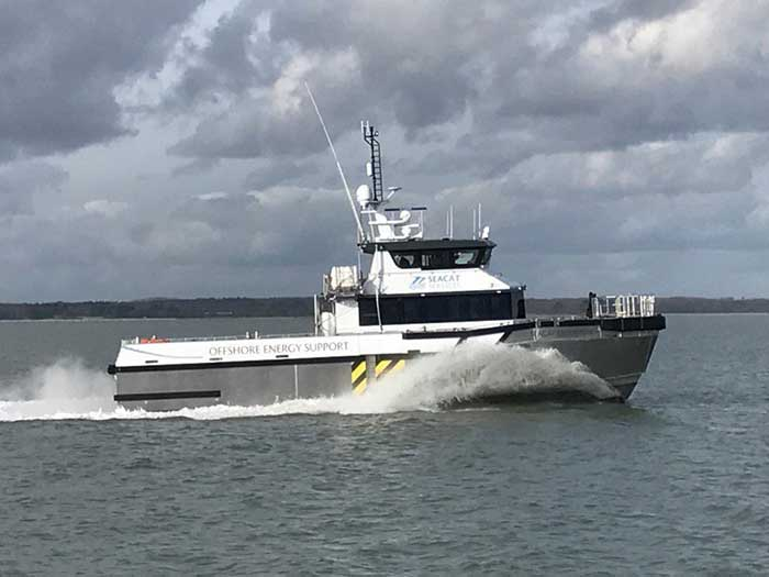 Seacat Enterprise has transited to and completed its first operational assignments at the Triton Knoll Offshore Wind Farm using Hydrogenated Vegetable Oil (HVO) as a fuel.