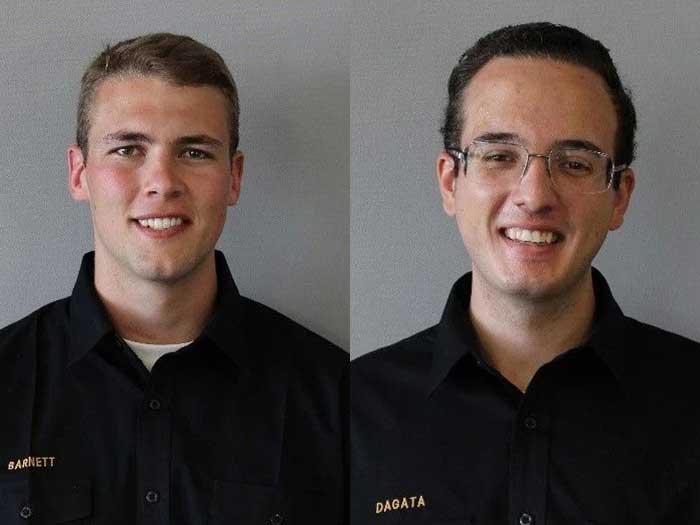 Crowley Scholarship winners GLMA cadets Tristan Barnett and Jackson Dagata