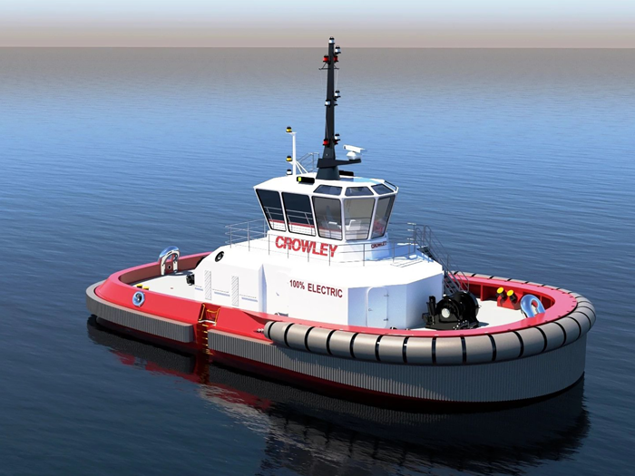 Crowley has the first fully electric U.S. tugboat with autonomous technology