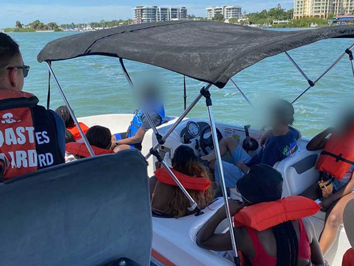 USCG stops illegal charter