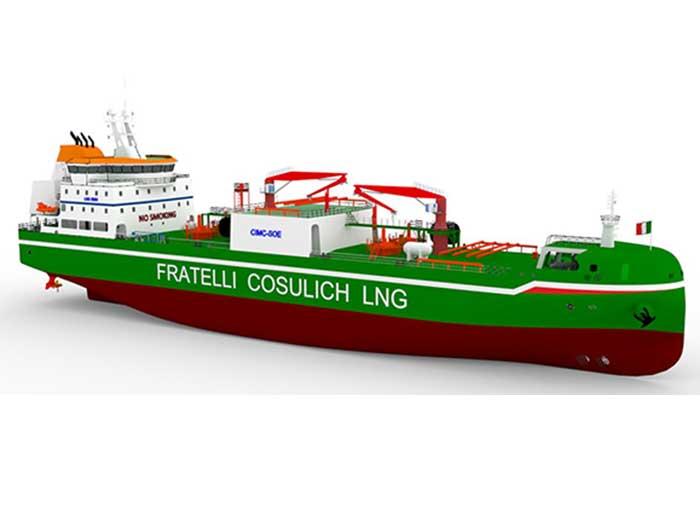 Green LNG bunkering vessel