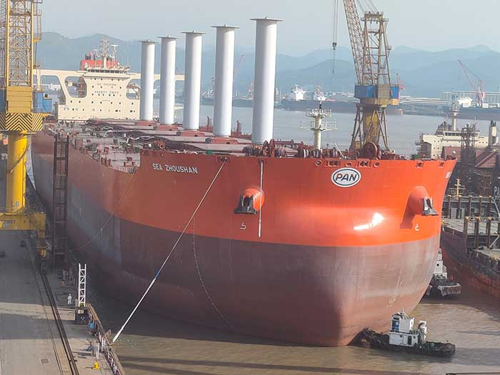 Ref bulker with 5 rotor sails
