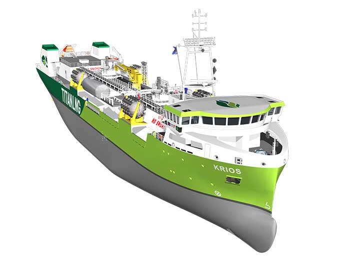 LNG bunkering vessel Titan Krios