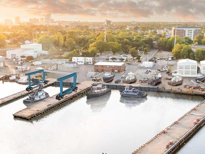 Artist's rendering of Lyon Shipyard