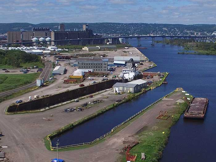 Fraser Industries LLC is located on a 60-acre facility on Lake Superior with navigable water access, rail access and immediate freeway access.