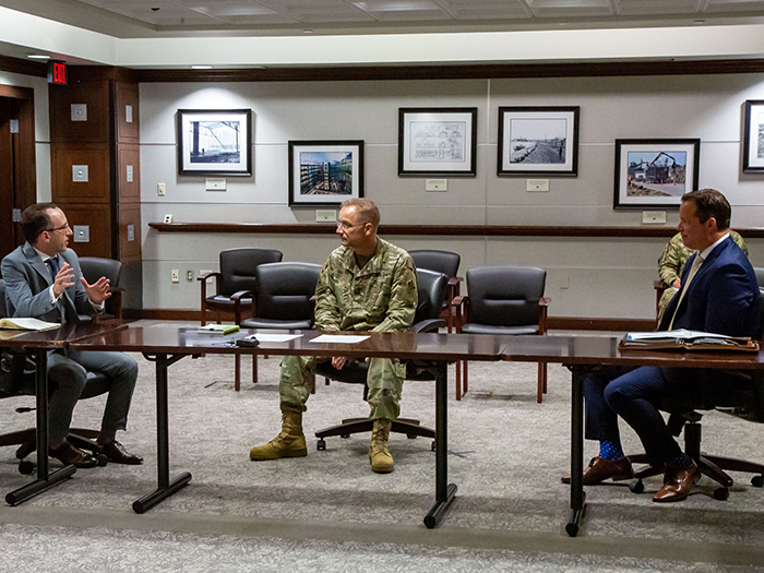 Dredging leaders engage with USACE general