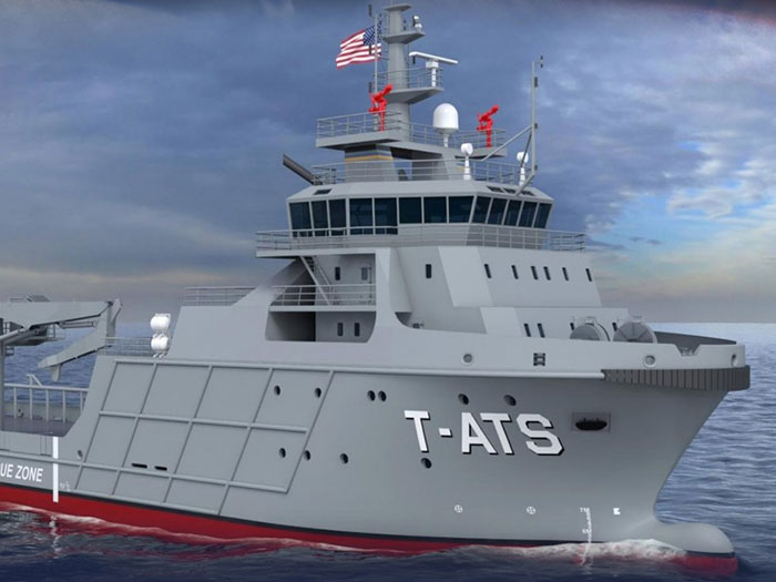 Navajo-class (T-ATS) Towing, Salvage and Rescue Ship. (Image: US Navy)