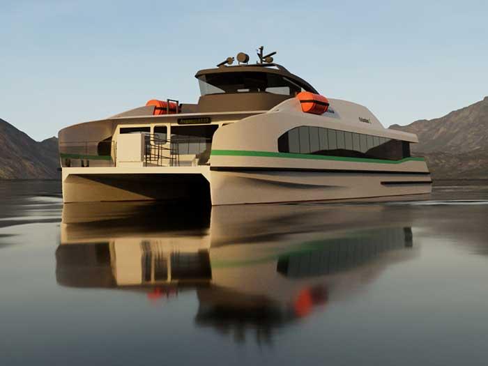 Artist's rendering of the Medstraum ferry