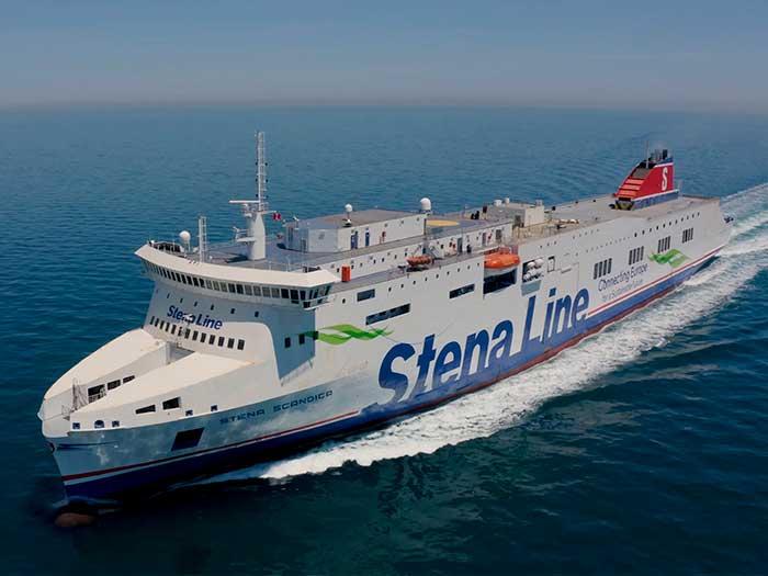 ship on sea trials