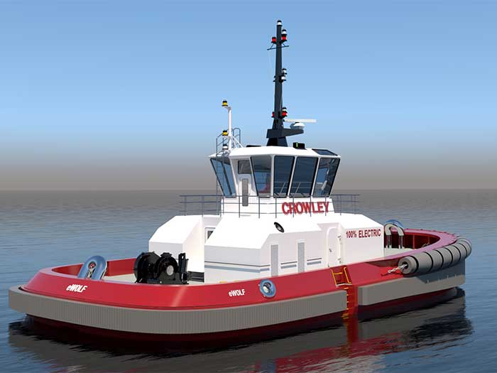 Rendering of all-electric tug