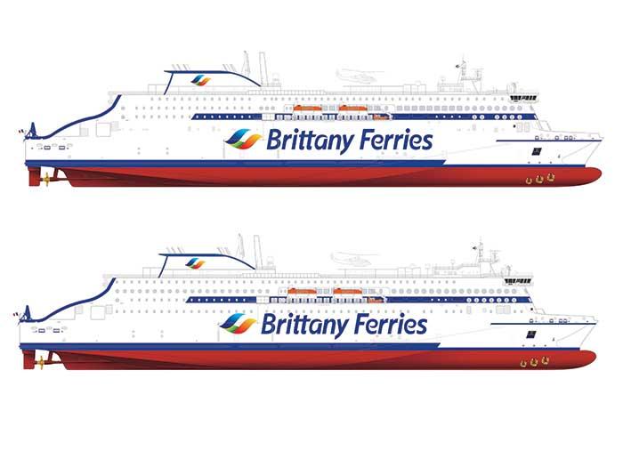 Two Stena RoRo E-Flexer vesselss