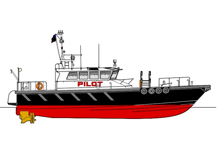 Profile drawing of new pilot boat