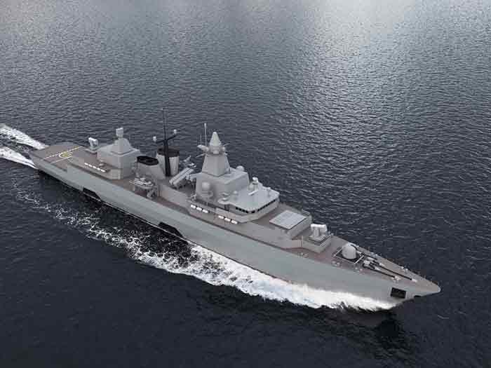 German Brandenburg class frigate