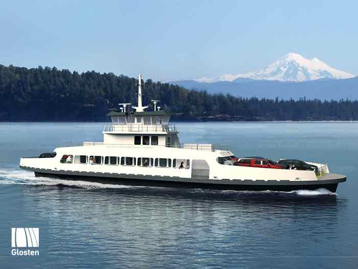 Rendering of the new ferry for Skagit County