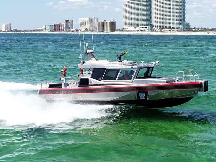 New Metal Shark fireboat