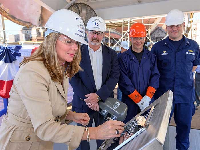 Shipyard keel authentication ceremony