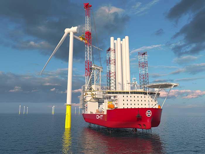 Jack-up WTIV vessel