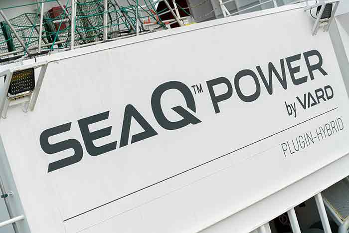 Containerized SeaQ Energy Storage System (ESS) to supply the system's hybrid battery power.