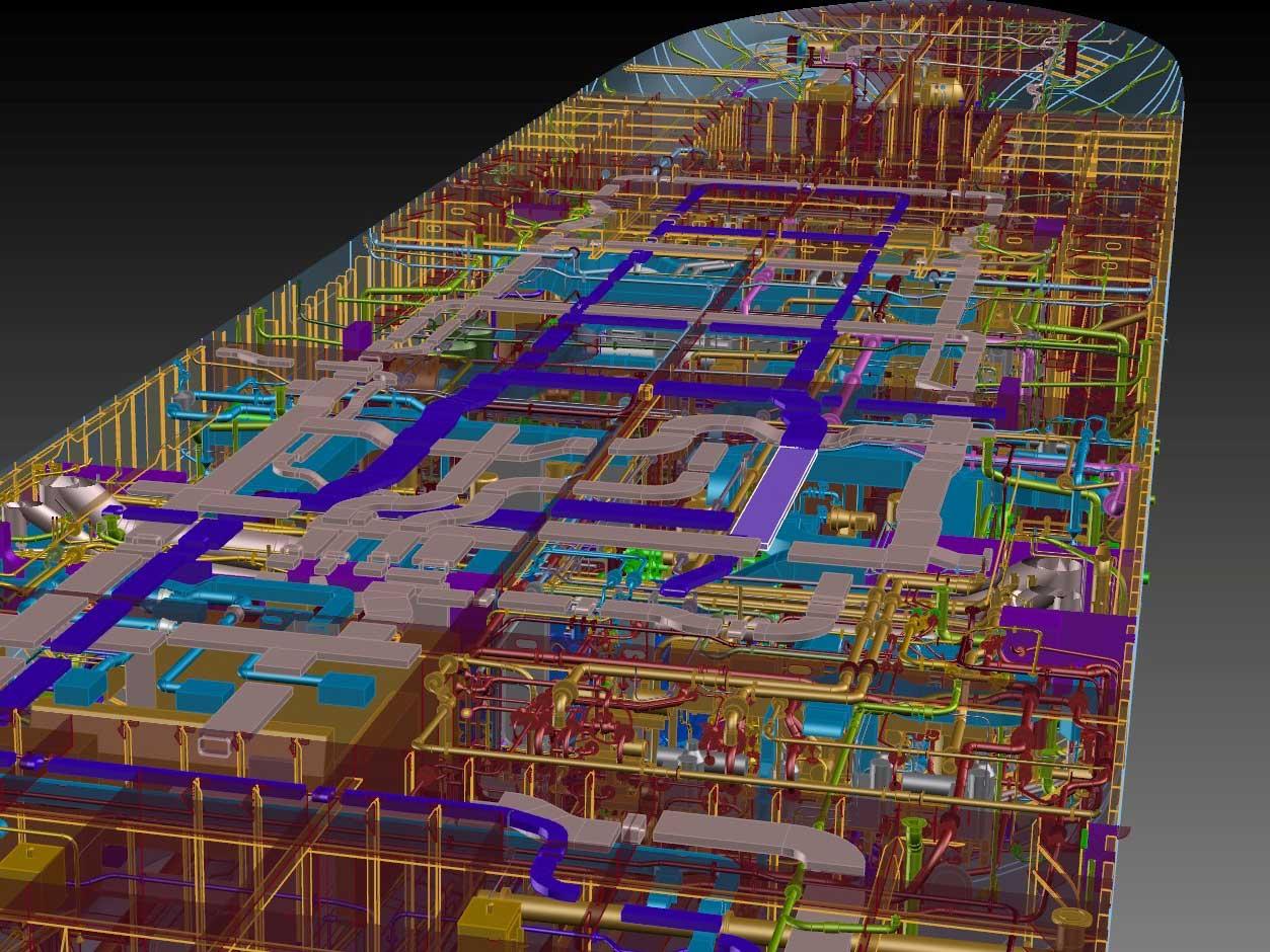 3D rendering of ship in Foran